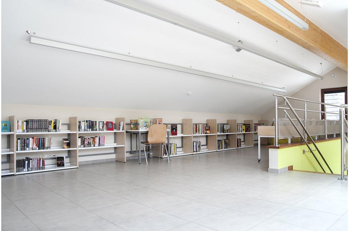Léglise bibliotek, Belgien - Offentligt bibliotek