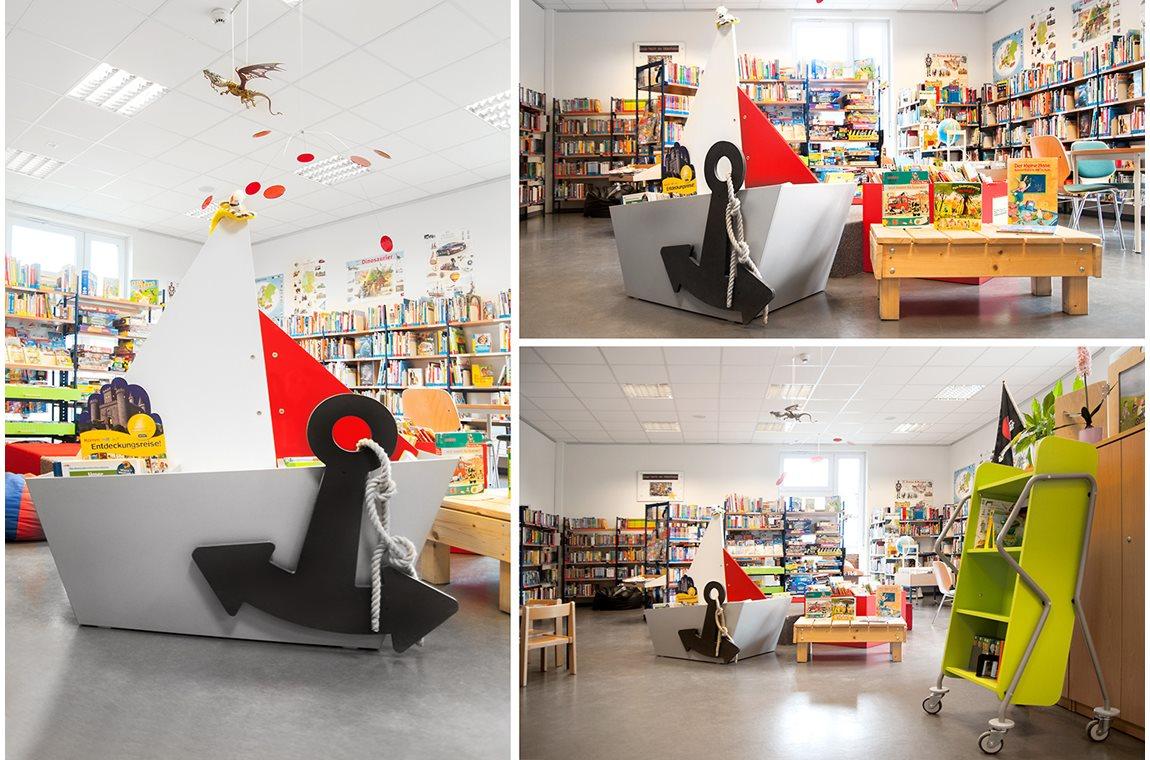 Rangsdorf bibliotek, Tyskland - Offentligt bibliotek