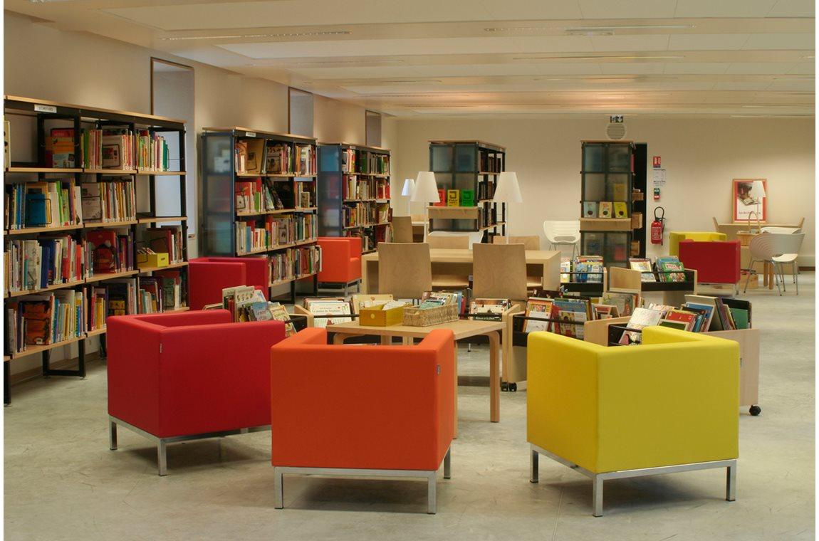 Openbare bibliotheek Lieusaint Cultureel Centrum, Frankrijk - Openbare bibliotheek