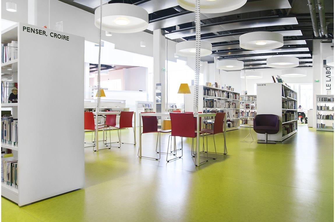 Médiathèque Jean Prévost, Bron, France - Bibliothèque municipale