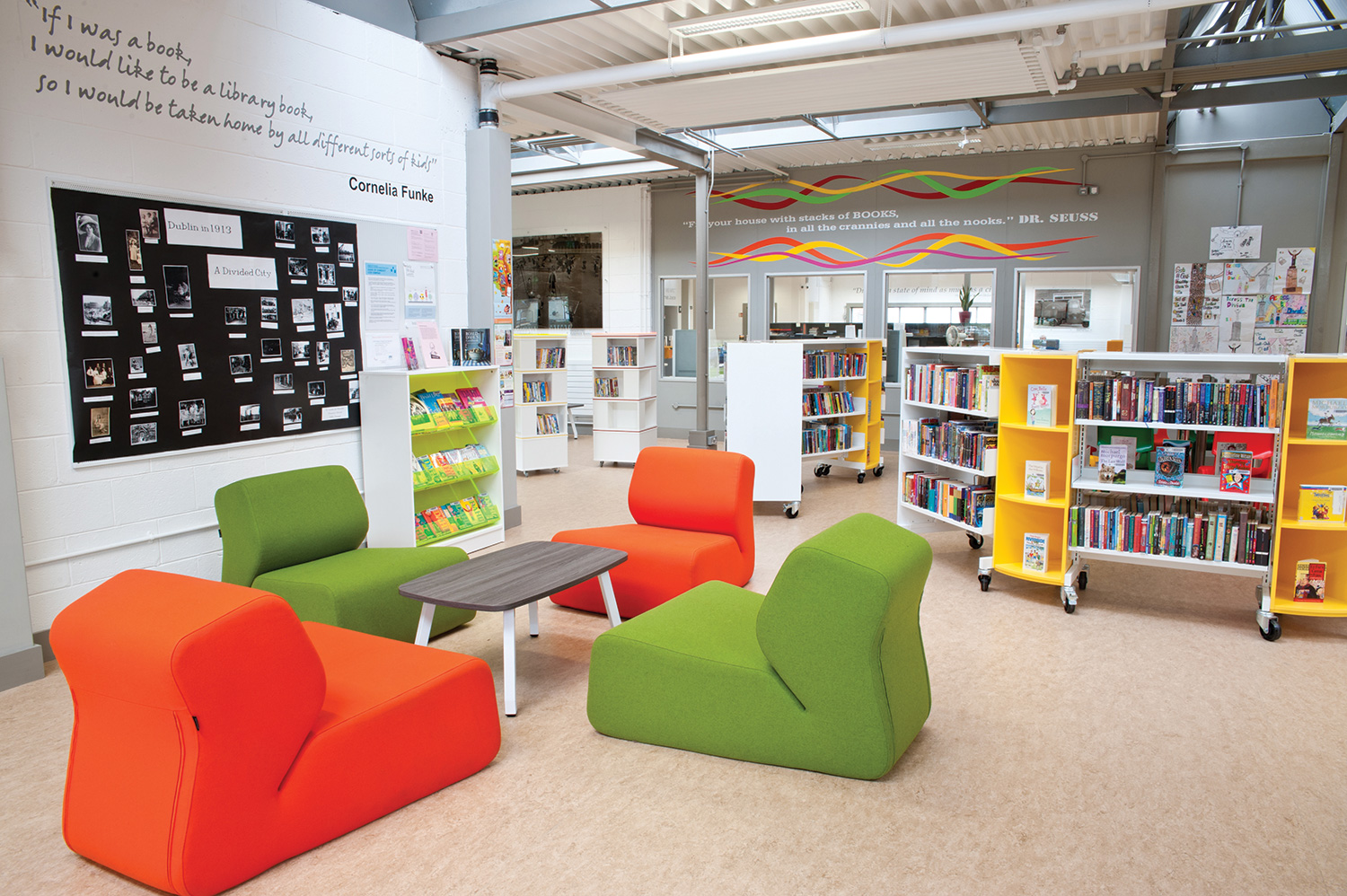 Dynamic And Interactive Furniture Design For The Library In