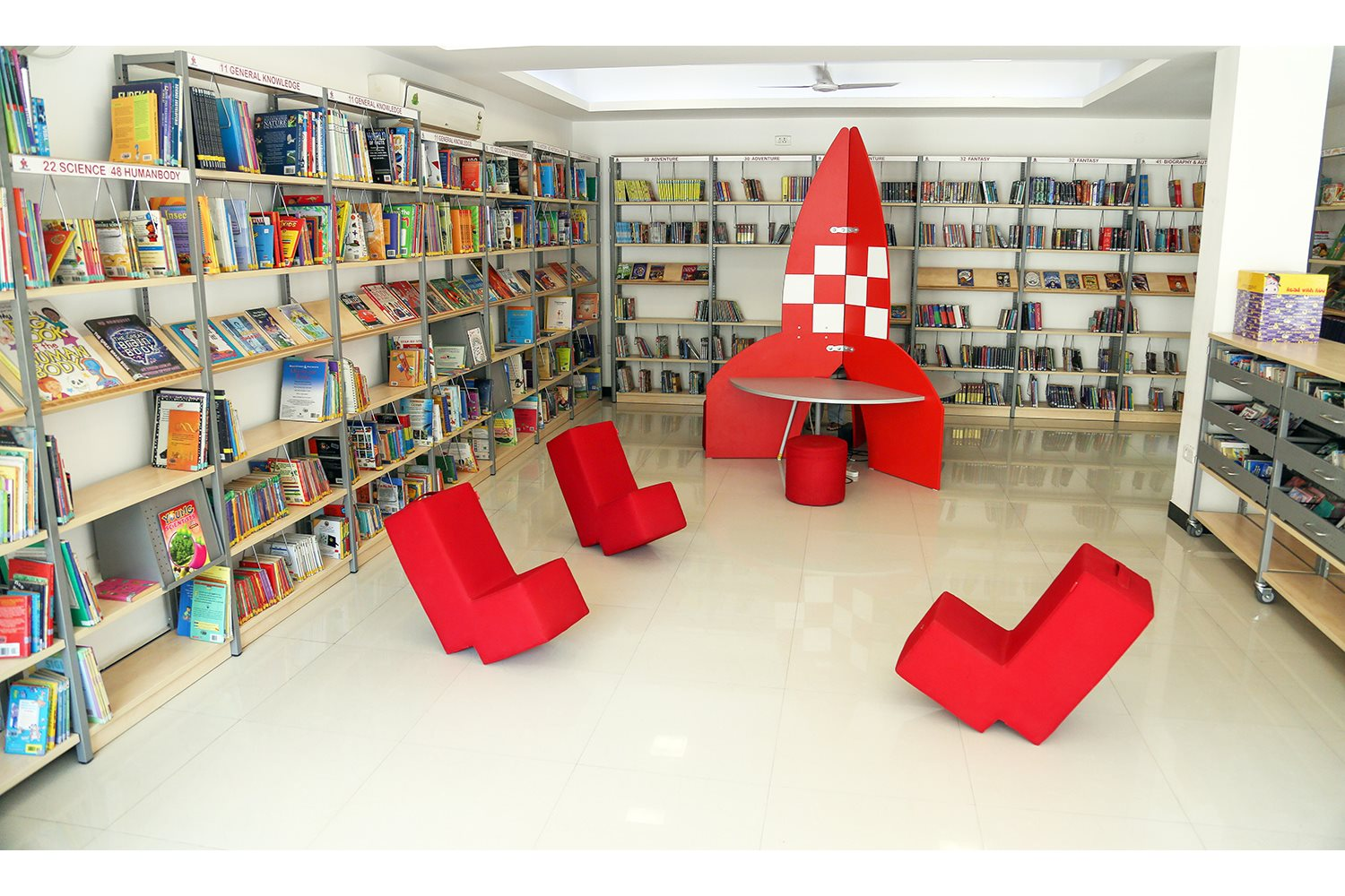 Library Interior Design Focus On Reading Skills In Chennai India