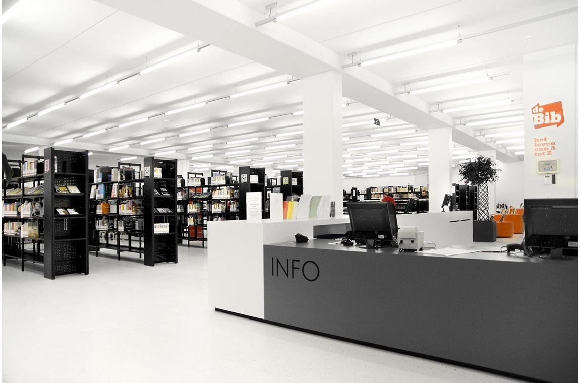 Veurne bibliotek, Belgien - Offentligt bibliotek