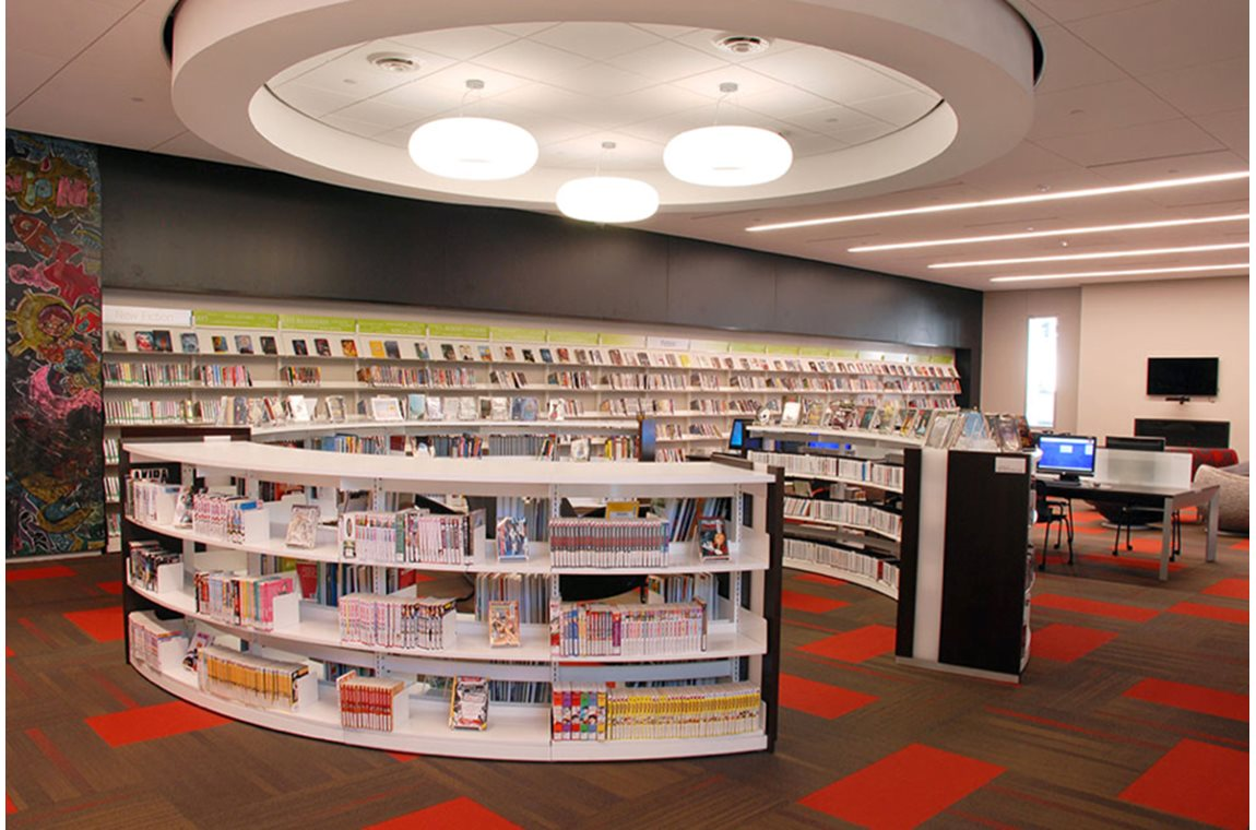 Cedar Rapids bibliotek i Iowa, USA - Offentligt bibliotek