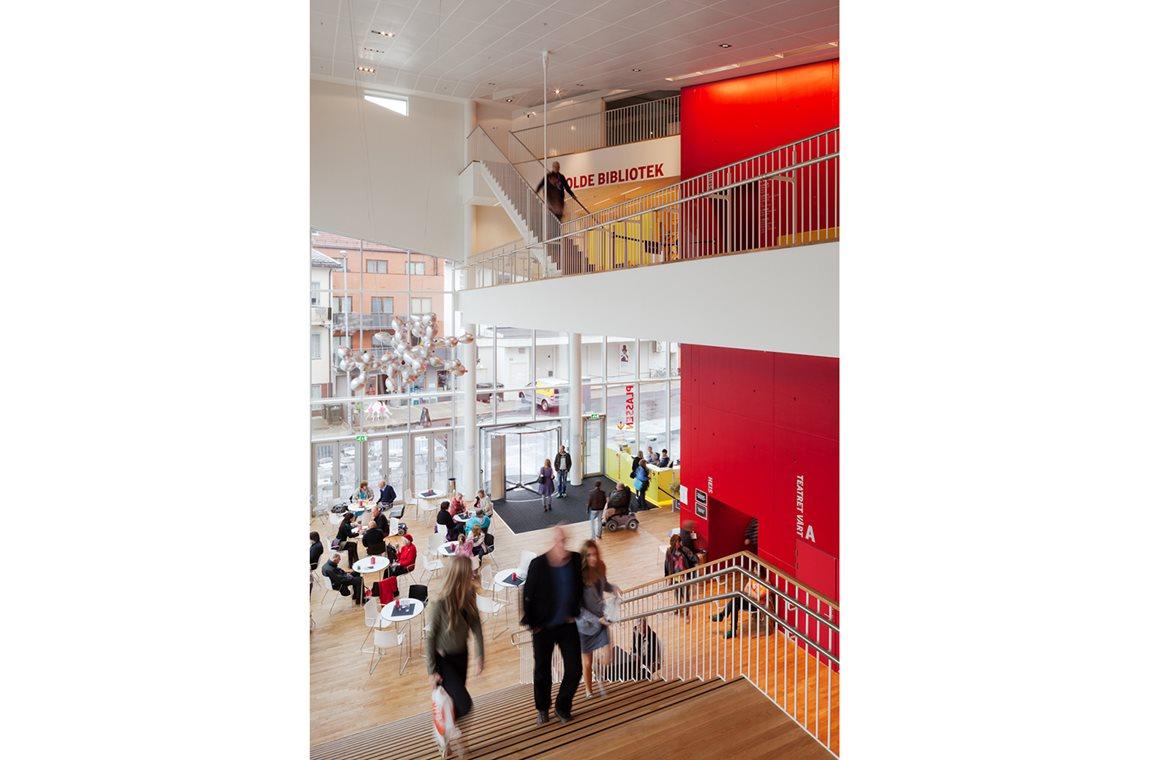 Openbare bibliotheek Molde, Norvège - Openbare bibliotheek