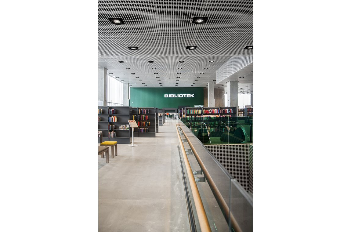 Dokk1 i Aarhus, Danmark - Offentligt bibliotek