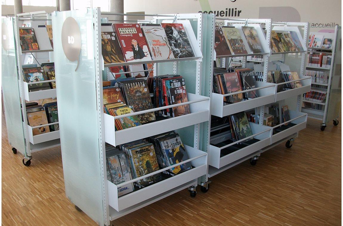 La Duchère Bibliotek, Lyon, Frankrig - Offentligt bibliotek