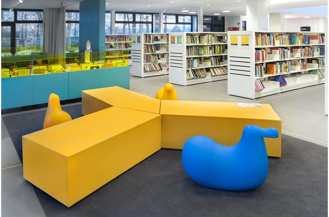 Wevelgem folkbibliotek, Belgien - Offentliga bibliotek