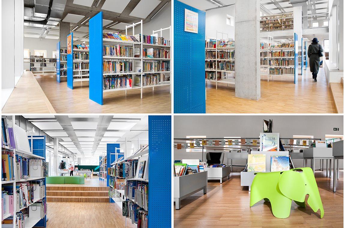 Sint-Pieters-Woluwe bibliotek, Belgien - Offentligt bibliotek