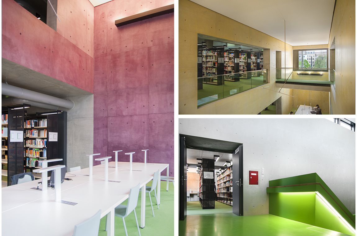 HTWK Leipzig, Tyskland - Akademisk bibliotek