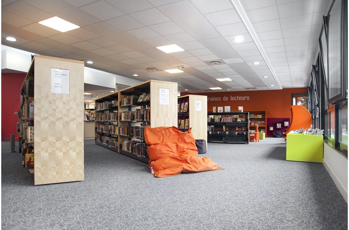 Stéphane Hessel Bibliotek, Montlouis-sur-Loire, Frankrig - Offentligt bibliotek