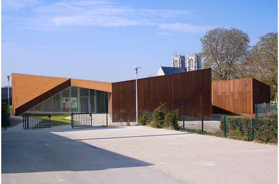 Corbie Mediatheek te Val de Somme, Frankrijk - Openbare bibliotheek