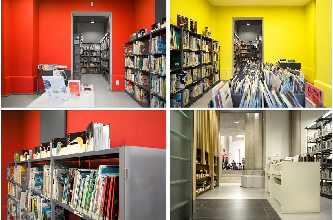 Virton bibliotek, Belgien - Offentligt bibliotek