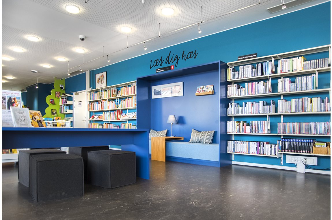 Bibliothèque municipale  de Fredericia, Danemark - Bibliothèque municipale