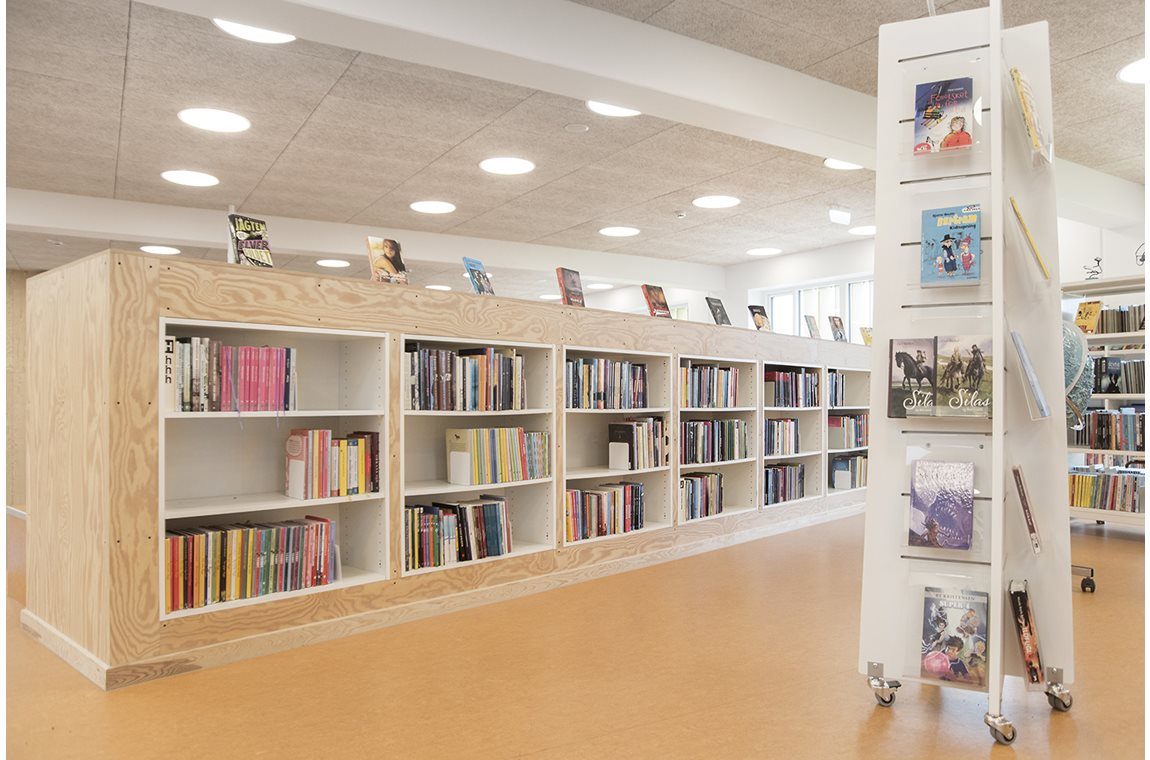 Bibliothèque scolaire Lykkesgårdskolen, Varde, Danemark - CDI
