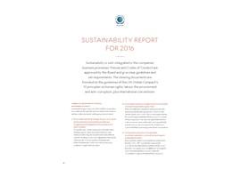 GB LDG sustainability report 2016
