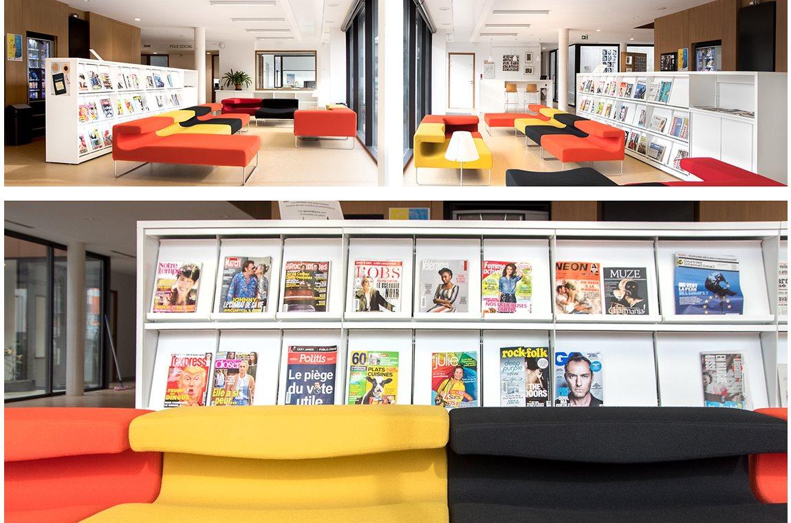 Mondeville Bibliotek, Frankrig - Offentligt bibliotek
