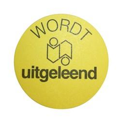 """1 3472 000 - Etiketten """"Wordt uitgeleend"""""""