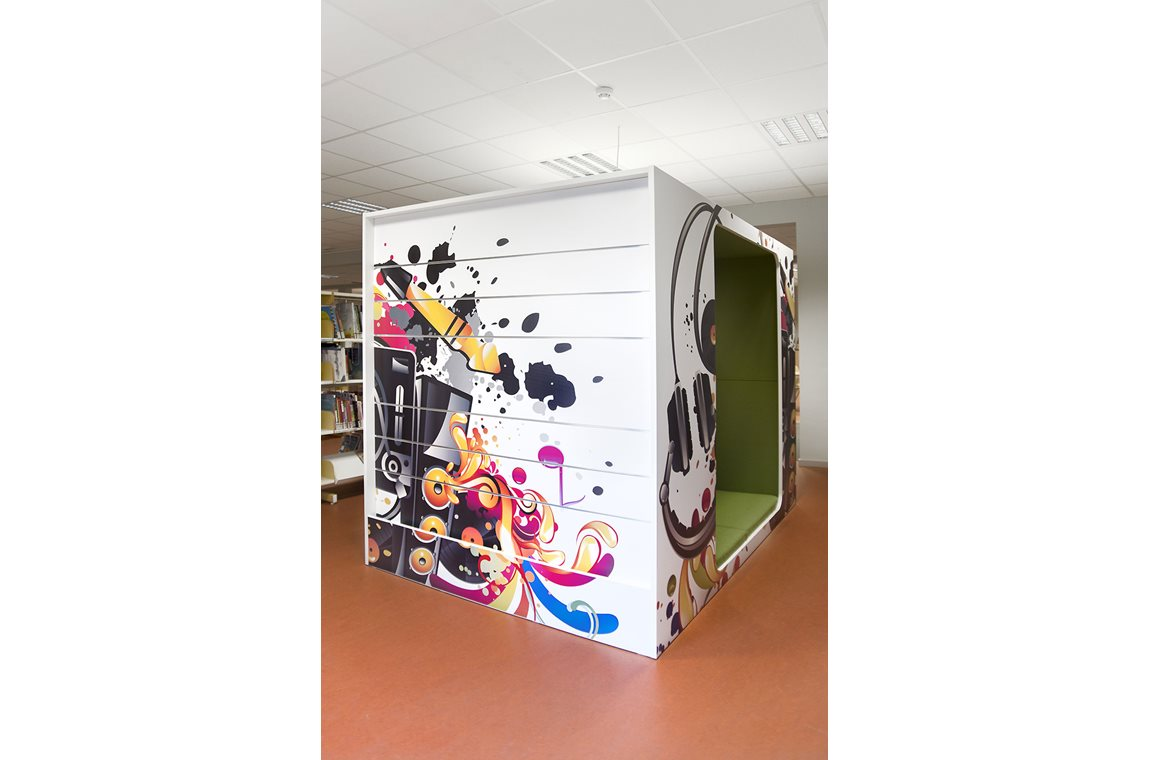 Laarne Bibliotek, Belgien - Offentligt bibliotek
