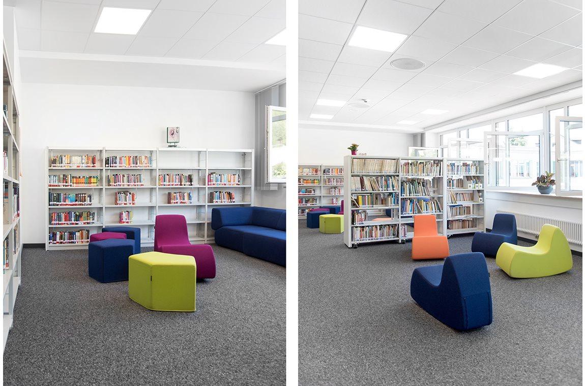 Gymnasium Fränkische Schweiz, Ebermannstadt, Duitsland - Schoolbibliotheek