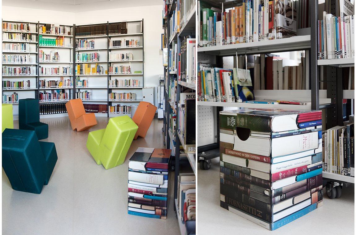 Schoolbibliotheek Lion Feuchtwanger Gymnasium, München, Duitsland - Schoolbibliotheek