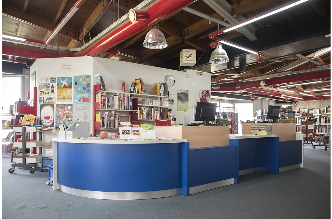 Openbare bibliotheek Elsa Triolet, Pantin, Frankrijk - Openbare bibliotheek