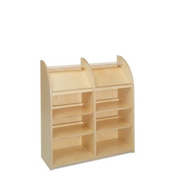 E21100 - single-sided with 8 shelves (6 adjustable)