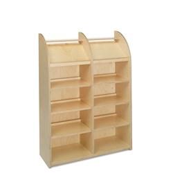 E21110 - single-sided with 10 shelves (8 adjustable)