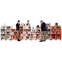 E21170 - double-sided with 24 shelves (20 adjustable)