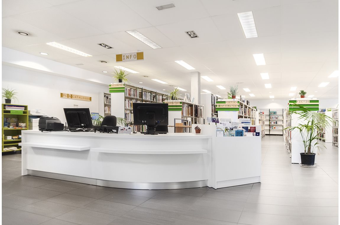 Schaarbeek Bibliotek, Belgien - Offentligt bibliotek