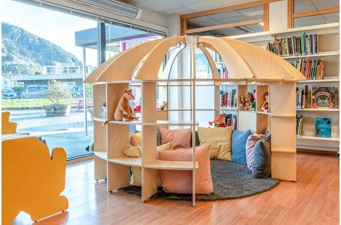 Bibliothéque municpale de Jørpeland, Norvège - Bibliothèque municipale