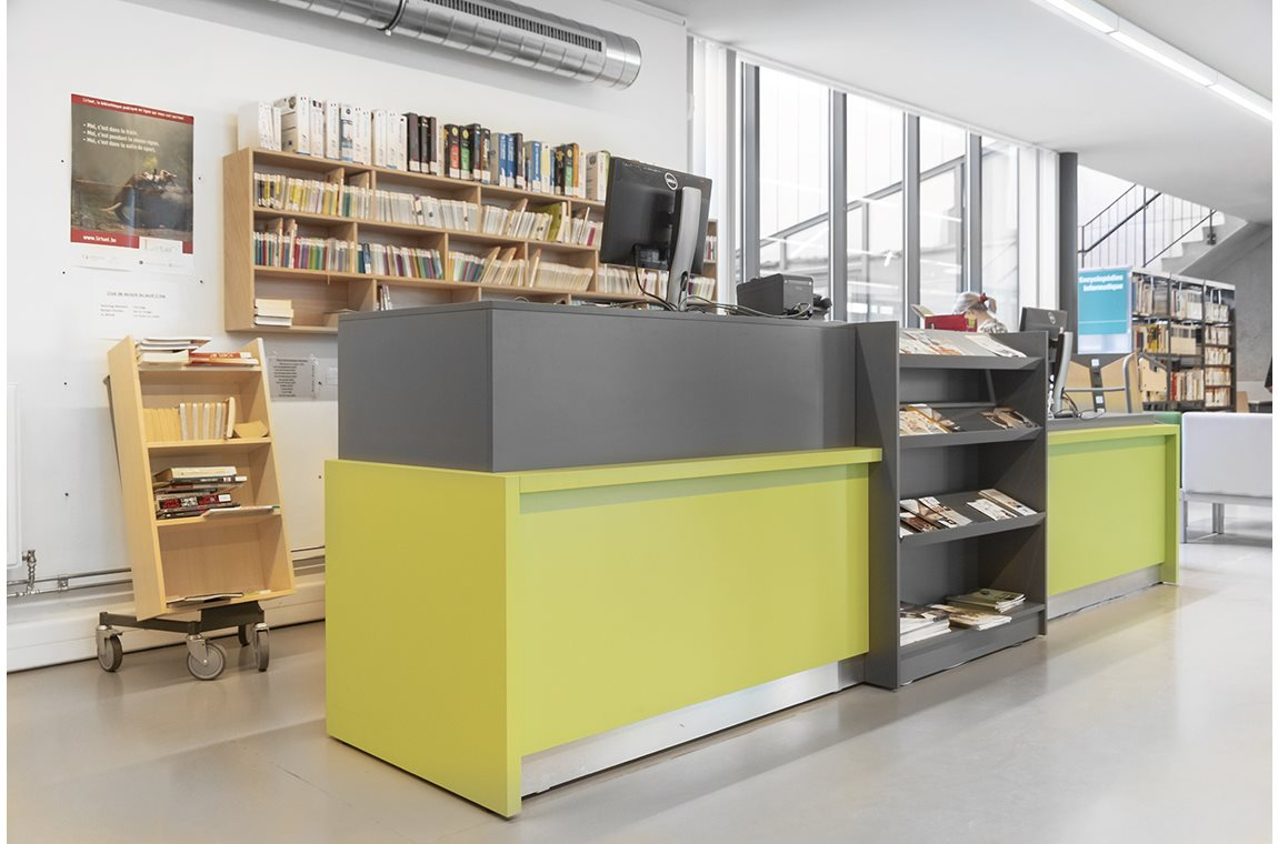 Ixelles bibliotek, Belgien - Offentligt bibliotek