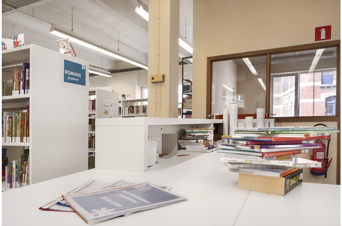 Bibliothèque municipale de Forest, Belgique - Bibliothèque municipale