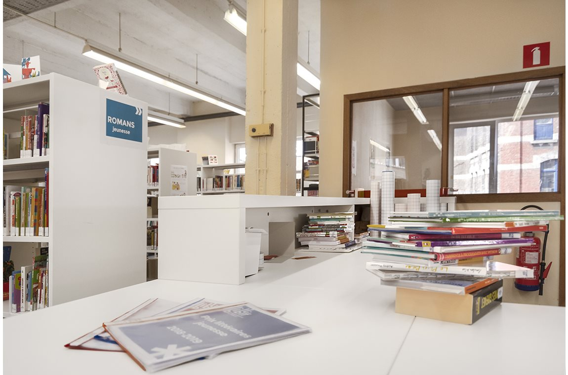Forest Bibliotek, Belgien - Offentligt bibliotek