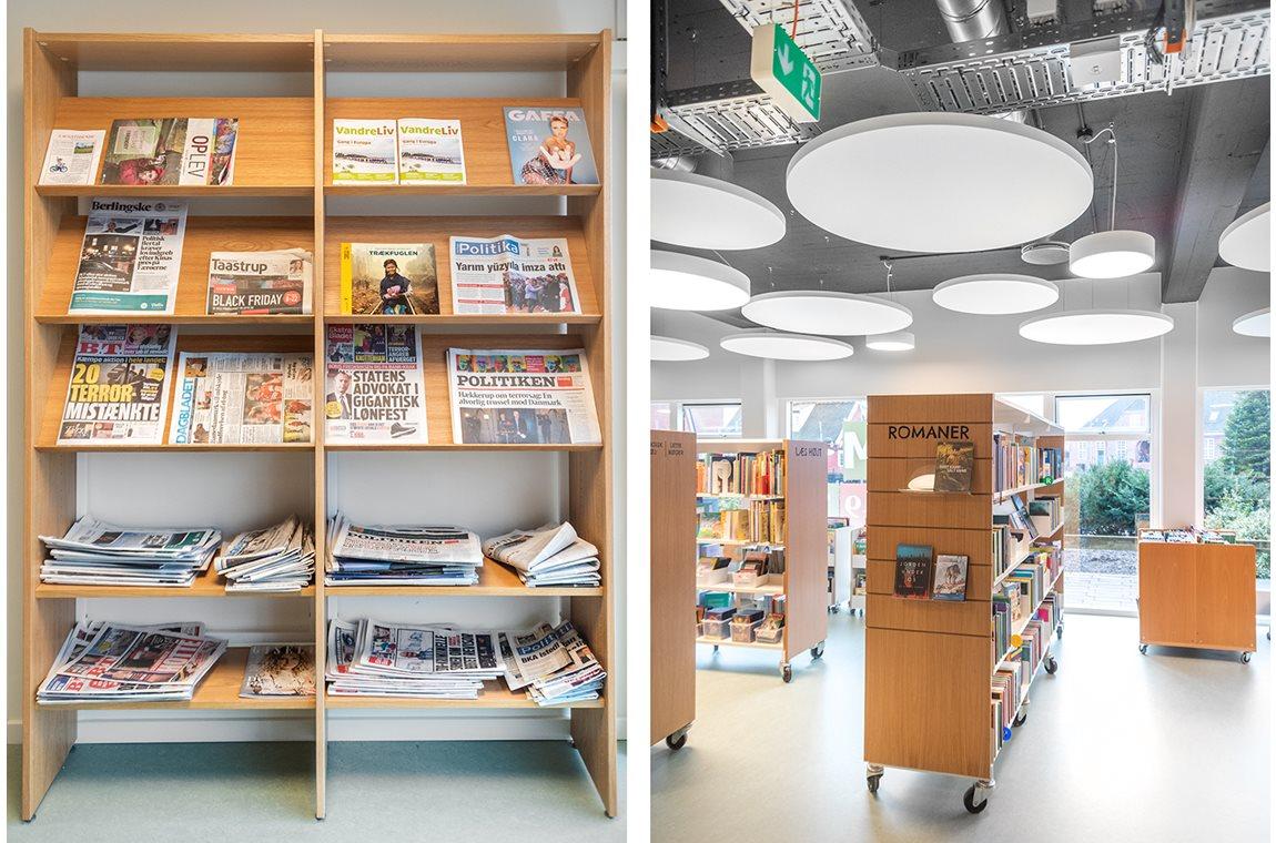 Bibliothèque publique de Hedehusene, Danemark - Bibliothèque municipale