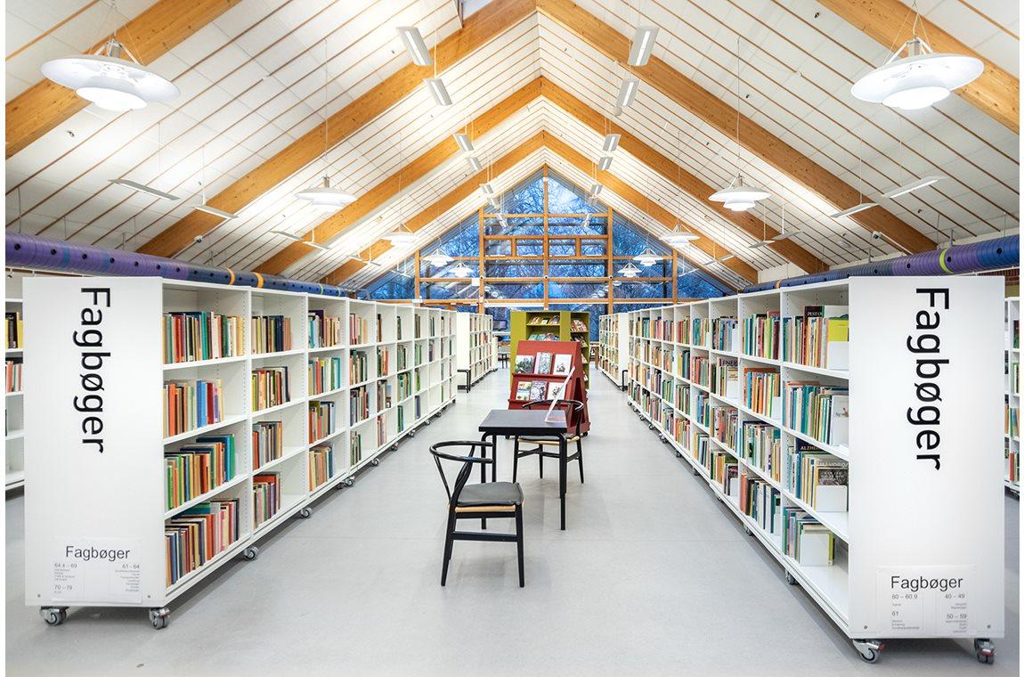 Bibliothèque publique de Birkerød, Danemark - Bibliothèque municipale