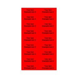 E225022 - 2 linjer, Arial 20 max 2 x 16 karakterer