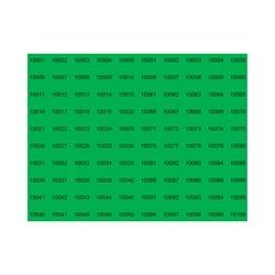 E226150 - Nummerserie, Arial 12 max 5 karakterer