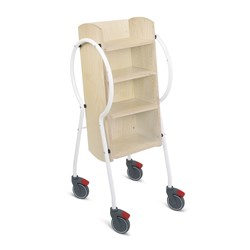 E5004 - Push & Pull Combi Book Trolley